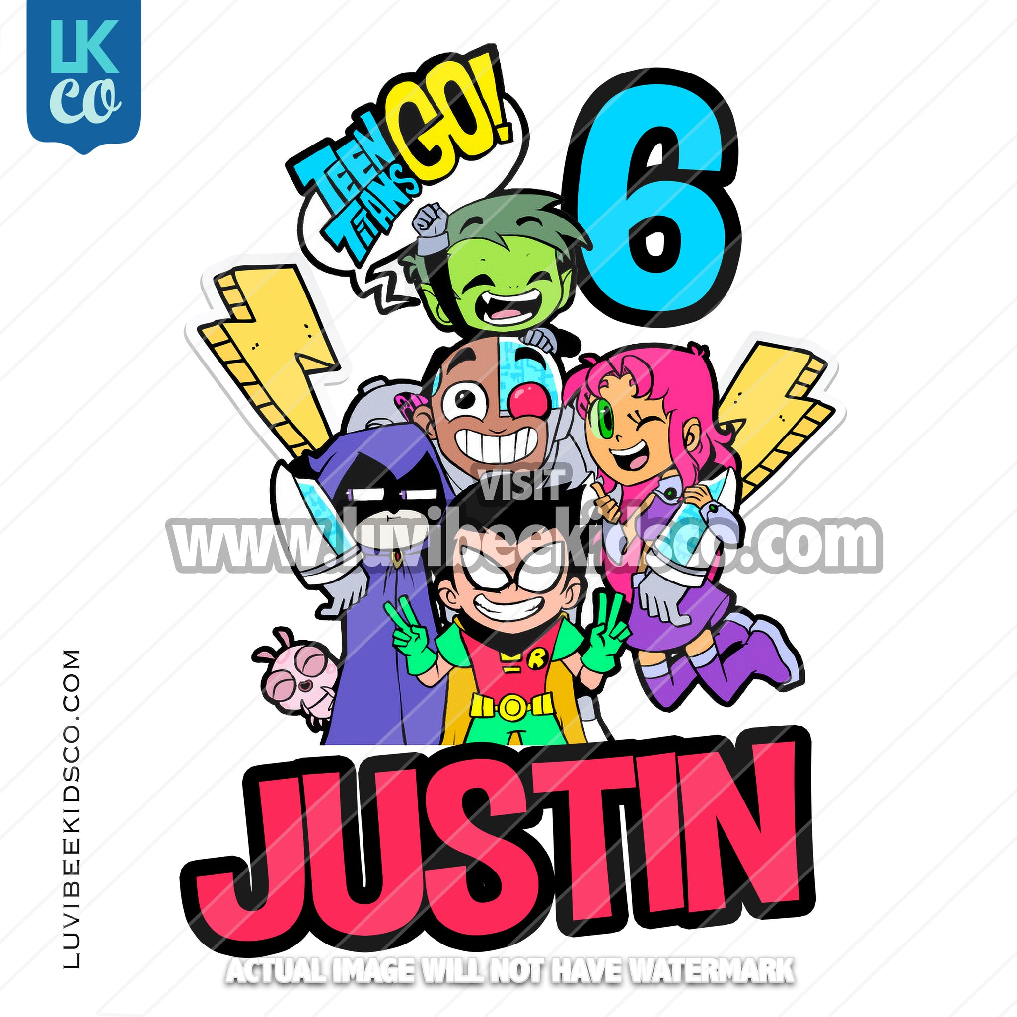Teen Titans Go Inspired Heat Transfer Design - LuvibeeKidsCo