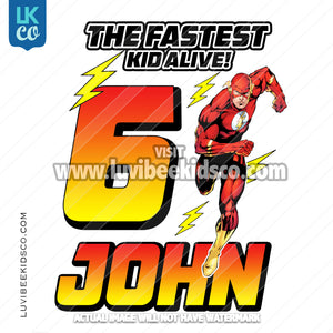 The Flash Heat Transfer Design - The Fastest Kid Alive - LuvibeeKidsCo