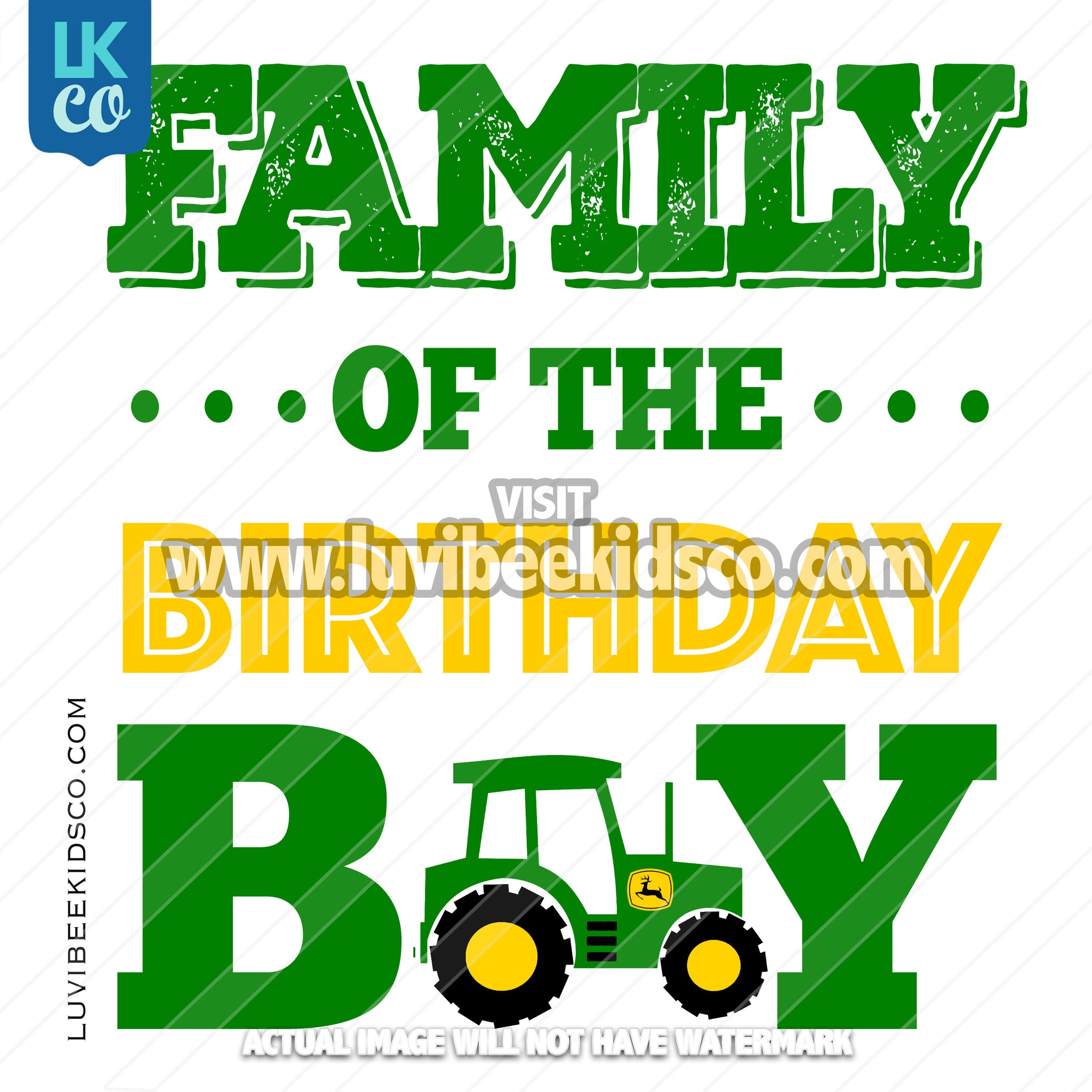 Tractor Heat Transfer Designs - Add Family Members - LuvibeeKidsCo