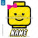 Lego Iron On Transfer | Girl - Pink Bow