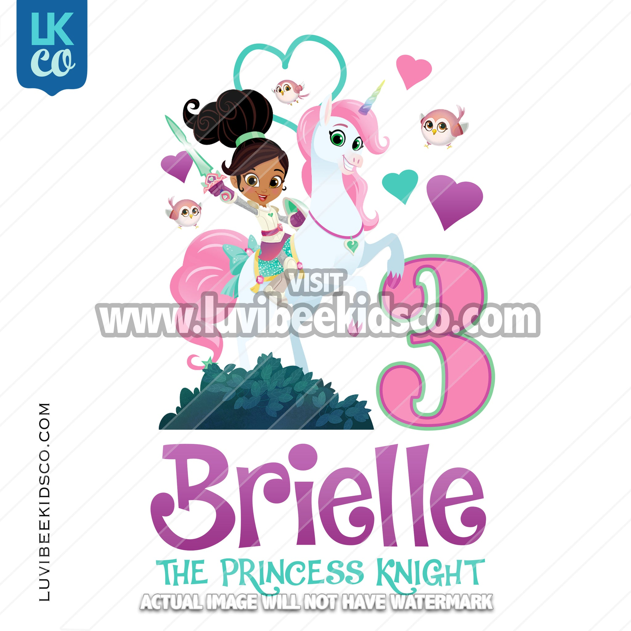 Nella the Princess Iron On Transfer Design - LuvibeeKidsCo