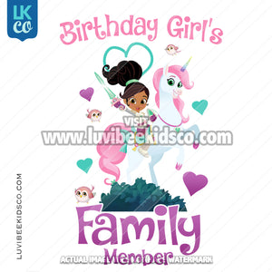 Nella the Princess Iron On Transfer Designs - Add Family Members - LuvibeeKidsCo