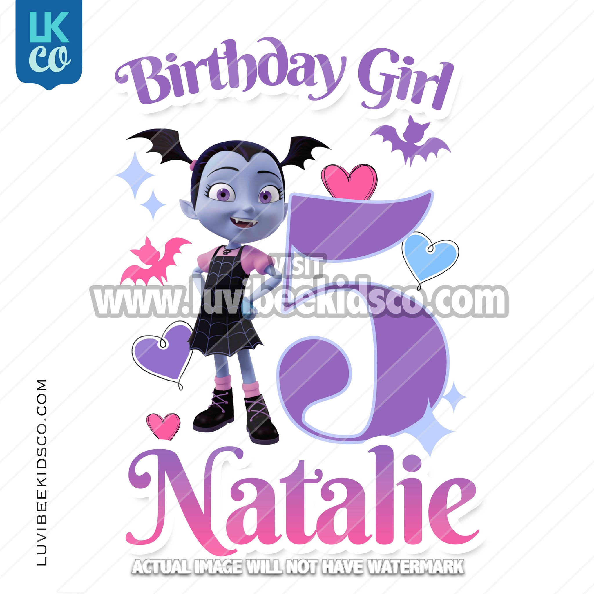Vampirina Iron On Transfer - Birthday Girl
