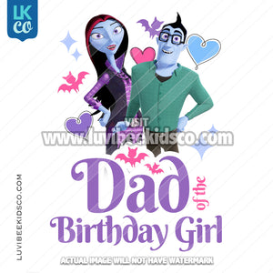 Vampirina Iron On Transfer | Dad of the Birthday Girl - LuvibeeKidsCo