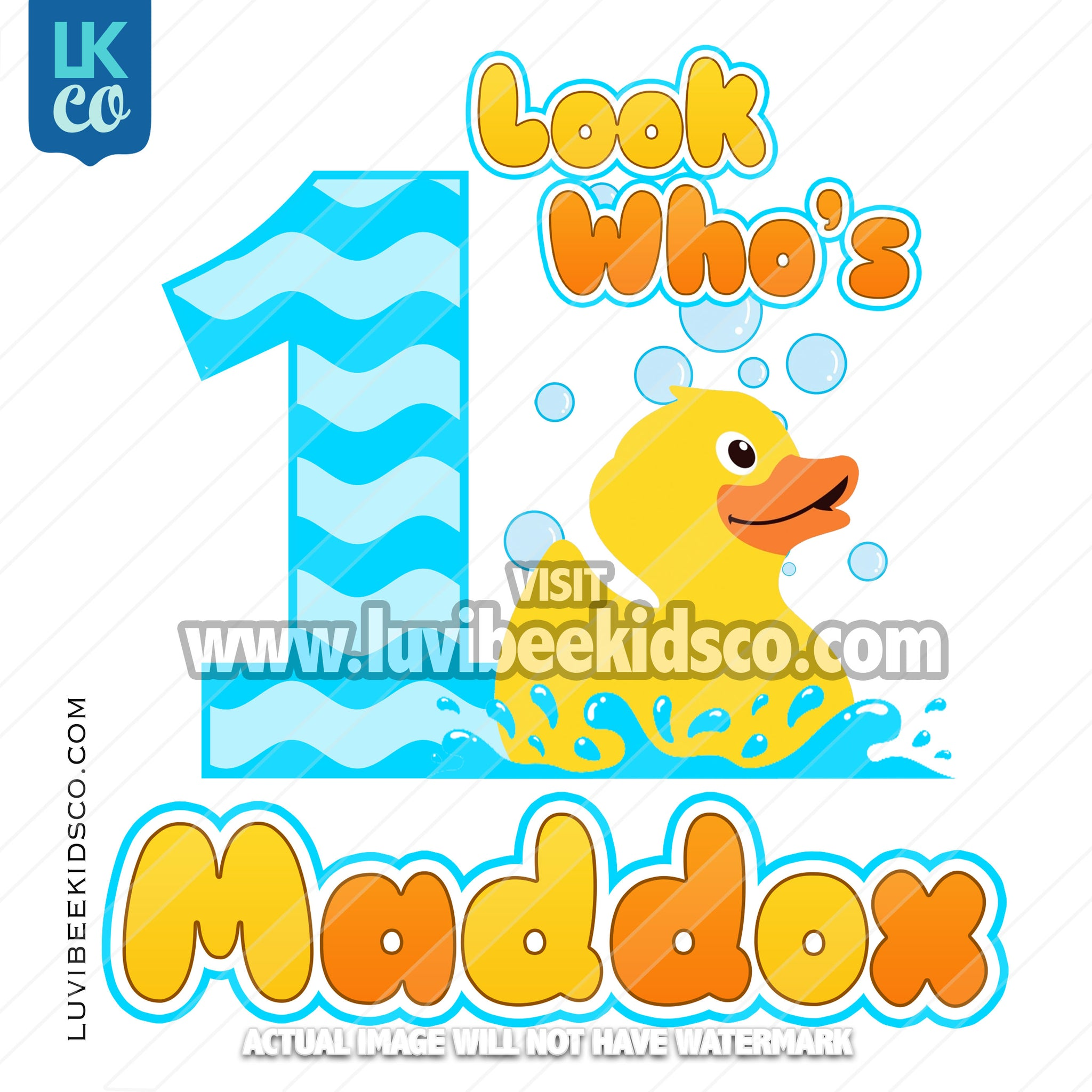 Rubber Duck Heat Transfer Design - Look Who's - LuvibeeKidsCo