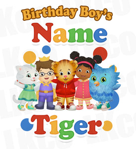 Daniel Tiger Iron On Transfer for Birthday Boy or Girl | Add Any Family Member - LuvibeeKidsCo
