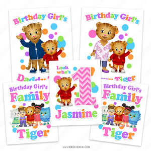 Daniel Tiger Iron On Transfers Family Pack | Rainbow - Birthday Girl - LuvibeeKidsCo