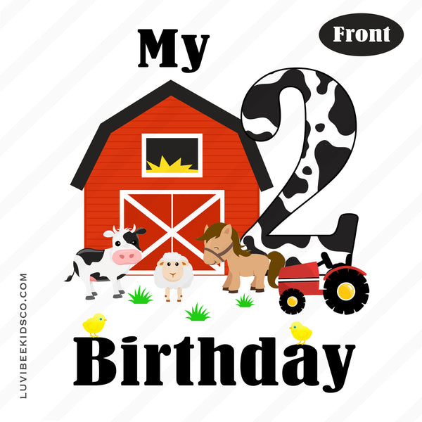 Farm Animals, Barnyard Party Iron On Transfer | Birthday Design - LuvibeeKidsCo