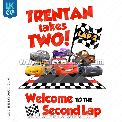 Disney Cars Iron On Transfer | Race Track Friends - Cars 3 - LuvibeeKidsCo