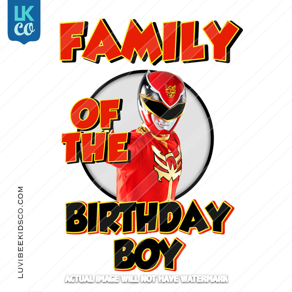 Red Power Ranger Heat Transfer Designs - Add Family Members - LuvibeeKidsCo