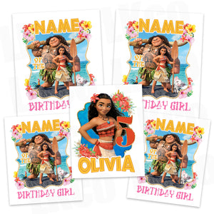 Moana Iron On Transfers Family Pack | Pink - LuvibeeKidsCo