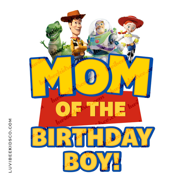 Toy Story Iron On Birthday Shirt Transfer Design | Mom - LuvibeeKidsCo