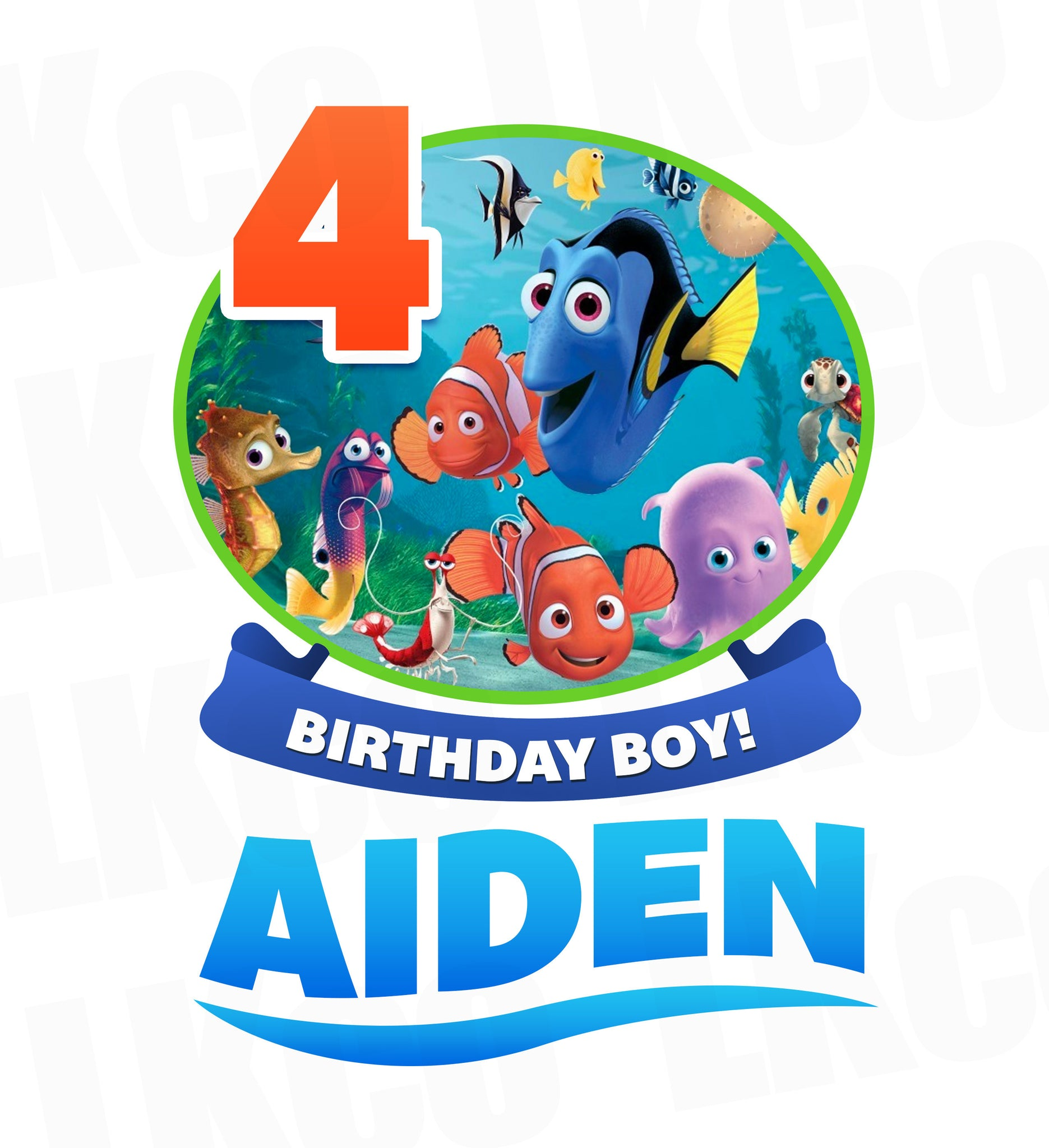 Finding Nemo Iron On Transfer | Birthday Boy - LuvibeeKidsCo