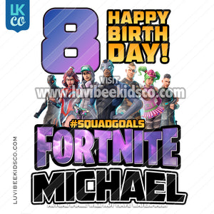 Fortnite Heat Transfer Design - Happy Birthday