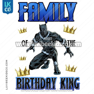 Black Panther Digital File [12-24hr email] for Birthdays and Events - Add Family Members - Crowns - LuvibeeKidsCo