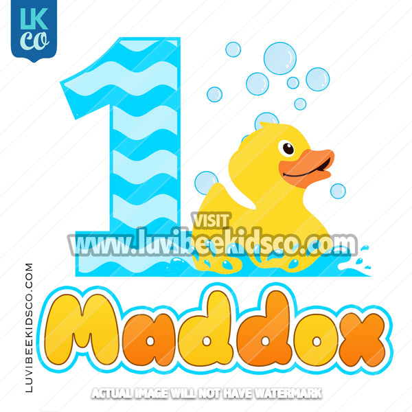 Rubber Duck Heat Transfer Design - LuvibeeKidsCo