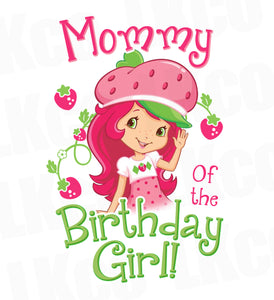 Strawberry Shortcake Iron On Transfer - Mommy of the Birthday Girl