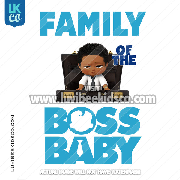 Boss Baby Iron On Transfer | Family of the Birthday Boss - Afro Boy - Briefcase - LuvibeeKidsCo
