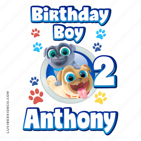 Puppy Dog Pals Iron On Transfer | Birthday Boy - LuvibeeKidsCo