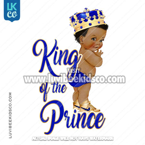Royal Prince Iron On Transfer Design | King of the Prince - LuvibeeKidsCo