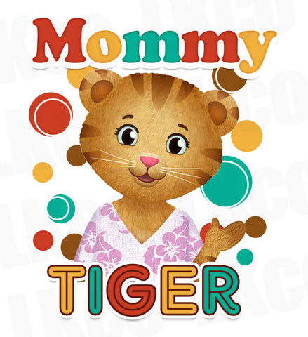 Daniel Tiger Iron On Transfer | Mommy Tiger | Style 02 - LuvibeeKidsCo