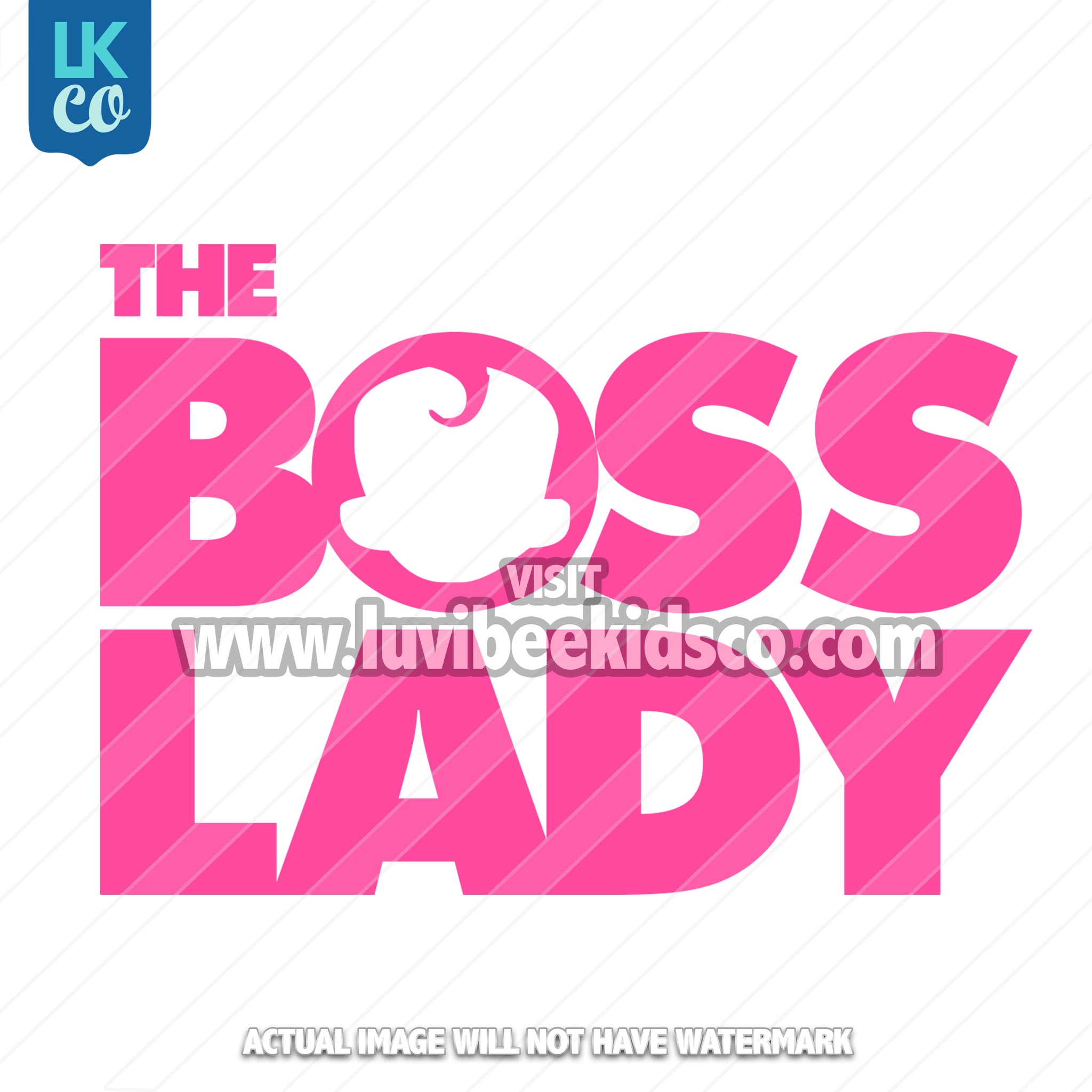 Boss Baby Iron On Transfer | Boss Lady - LuvibeeKidsCo