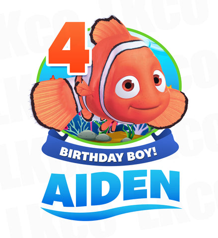 Finding Nemo Iron On Transfer | Birthday Boy Style 02 - LuvibeeKidsCo