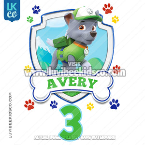Paw Patrol - Rocky - Customize Any Name and Age - LuvibeeKidsCo