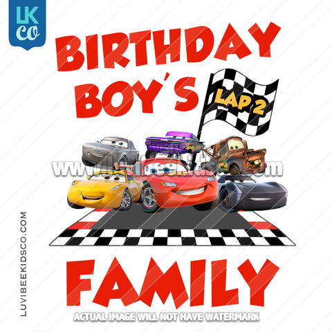 Disney Cars Iron On Transfer | Race Track Friends - Cars 3 - Add Family Members - LuvibeeKidsCo
