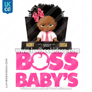 Boss Baby | Add Your Own Text | Afro Baby with Bow [Instant Download] - LuvibeeKidsCo