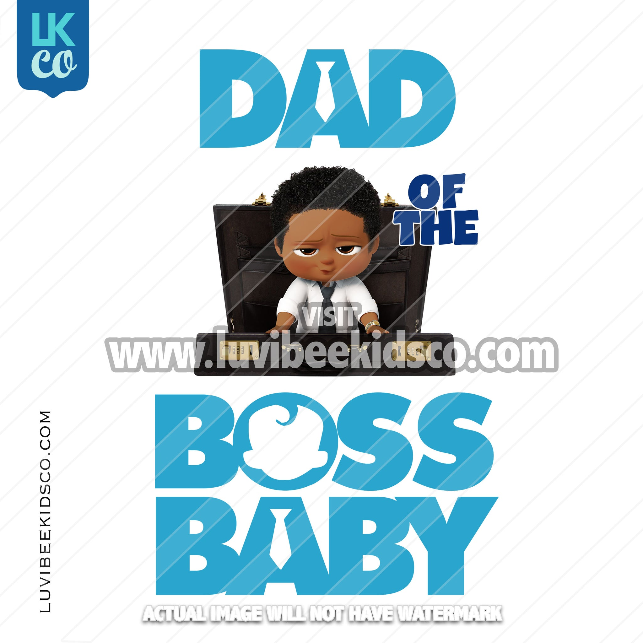 Boss Baby Iron On Transfer | Dad of the Boss Baby - Afro Boy - Briefcase - LuvibeeKidsCo