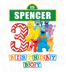 Sesame Street Iron On Birthday Shirt Design | Birthday Boy - LuvibeeKidsCo