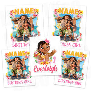 Baby Moana Iron On Transfers Family Pack | Style 02 - LuvibeeKidsCo