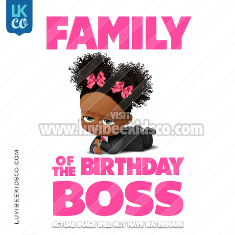 Boss Baby Iron On Transfer | Family of the Birthday Boss - Afro Puffs - LuvibeeKidsCo