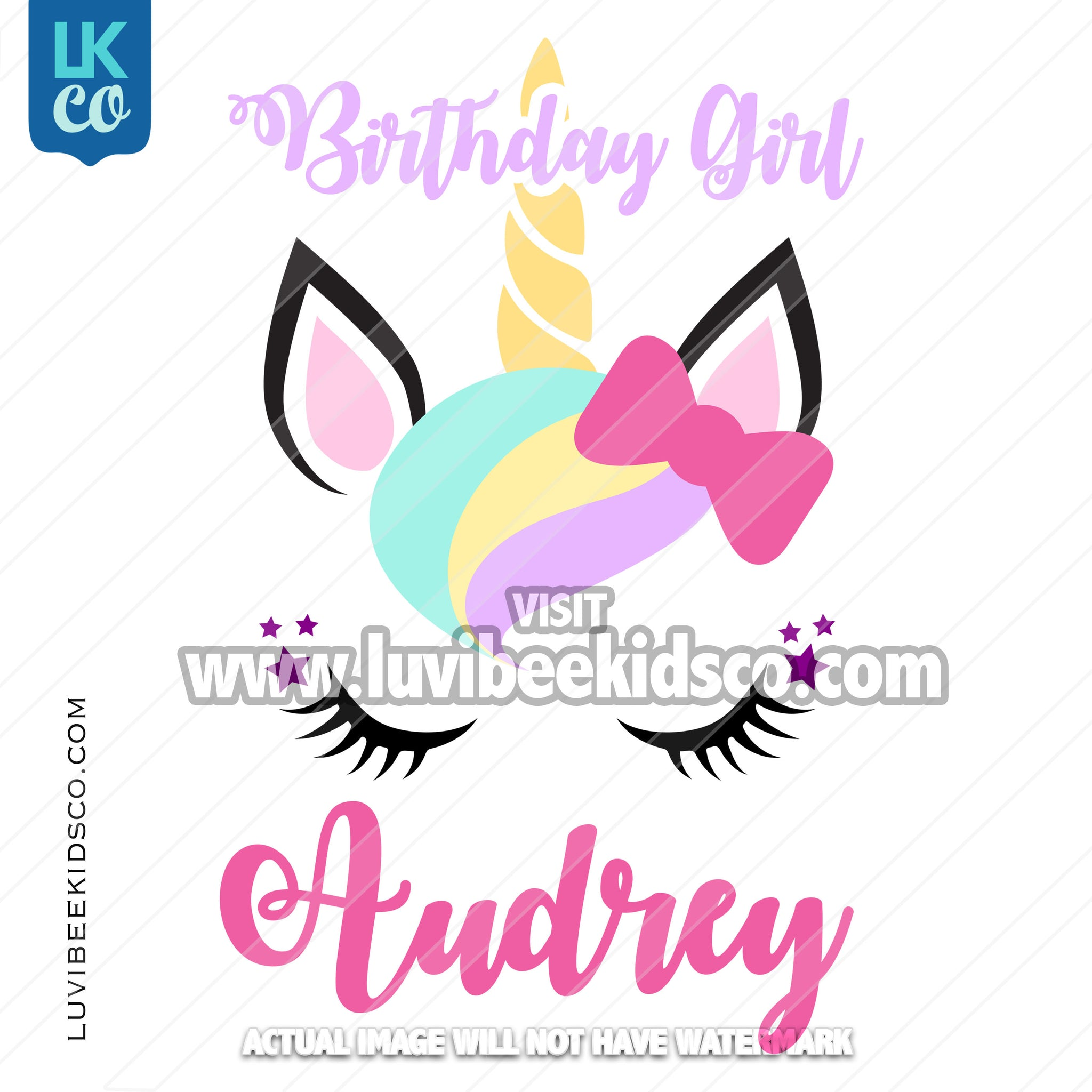 Unicorn Iron On Transfer | Birthday Girl - LuvibeeKidsCo