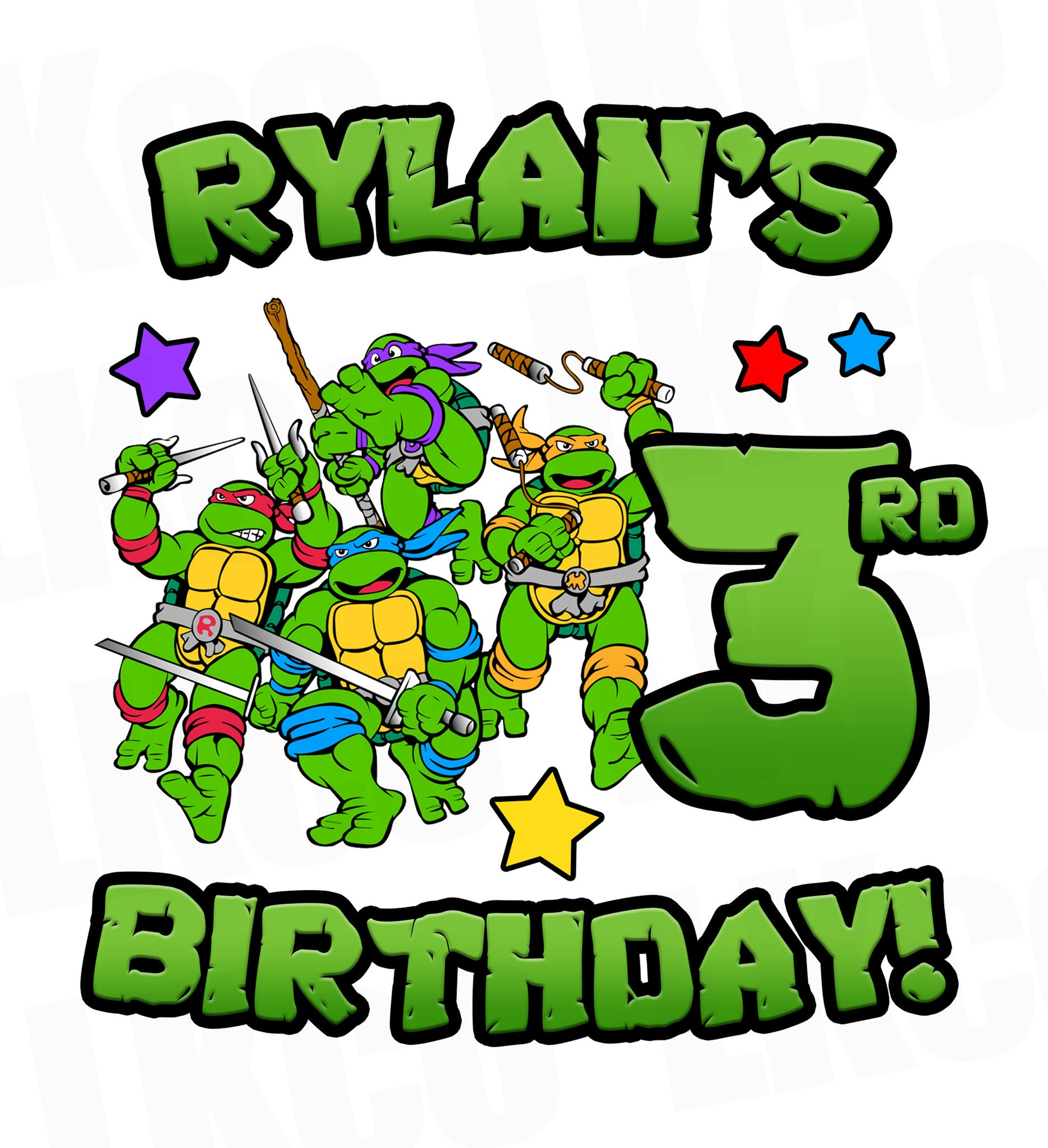 Teenage Mutant Ninja Turtles Iron On Transfer | TMNT Birthday - LuvibeeKidsCo