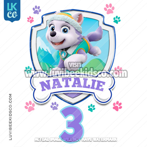 Paw Patrol - Everest - Customize Any Name and Age - LuvibeeKidsCo