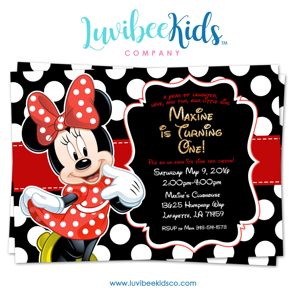 Minnie mouse birthday invitation printable invite style 02 minnie mouse birthday invitation printable invite style 02 red black filmwisefo