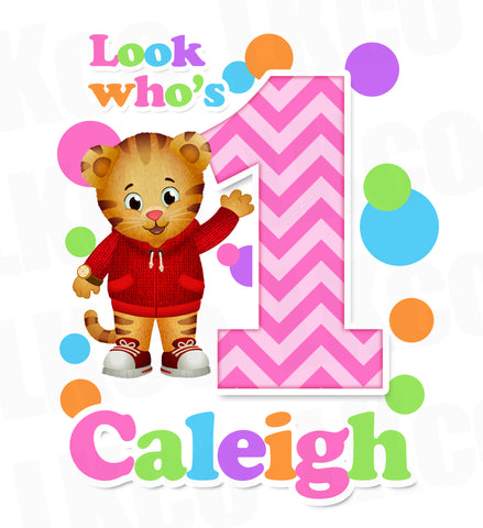 Daniel Tiger Iron On Transfer for Girls | Look Who's