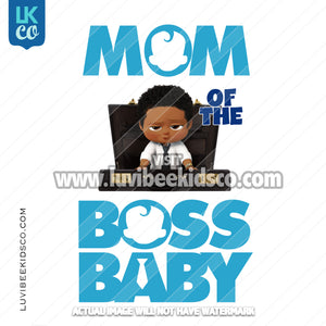 Boss Baby Iron On Transfer | Mom of the Boss Baby - Afro Boy - Briefcase - LuvibeeKidsCo