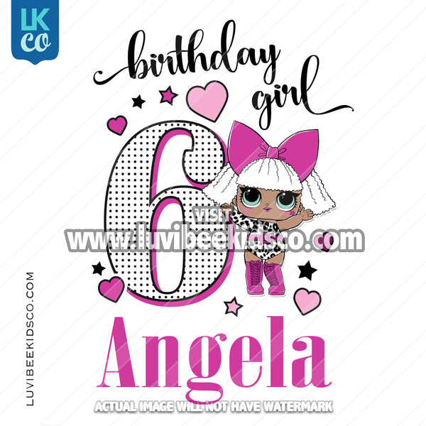 LOL Surprise Iron On Transfer Design | Birthday Girl - Diva - LuvibeeKidsCo