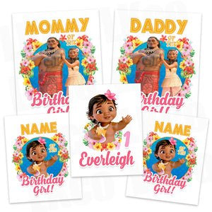 Baby Moana Iron On Transfers Family Pack - LuvibeeKidsCo