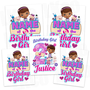 Doc McStuffins Iron On Transfers Family Pack | Birthday Girl | Hearts - LuvibeeKidsCo