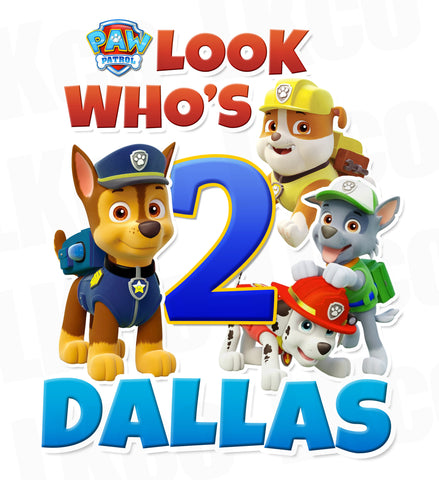 Paw Patrol Iron On Transfer | Look Who's Style 2
