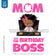 Boss Baby Iron On Transfer | Mom of the Birthday Boss - Afro Girl - Briefcase