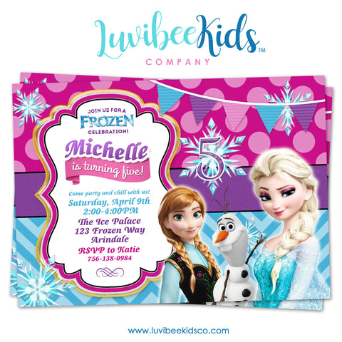 Frozen Birthday Invitation - LuvibeeKidsCo