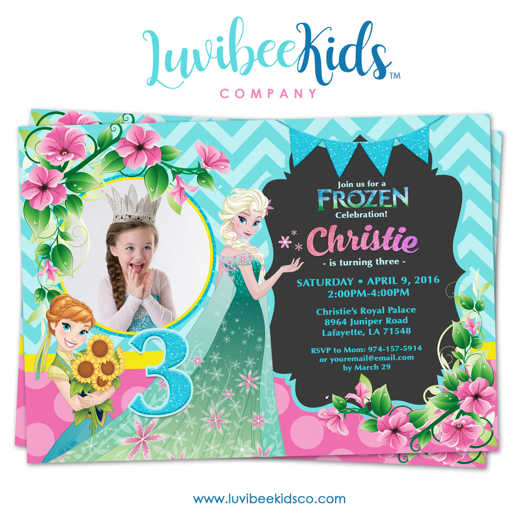 Frozen Birthday Invitation | Frozen Fever - LuvibeeKidsCo
