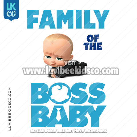 Boss Baby Iron On Transfer | Family of the Birthday Boss - Blue Baby Boy - LuvibeeKidsCo