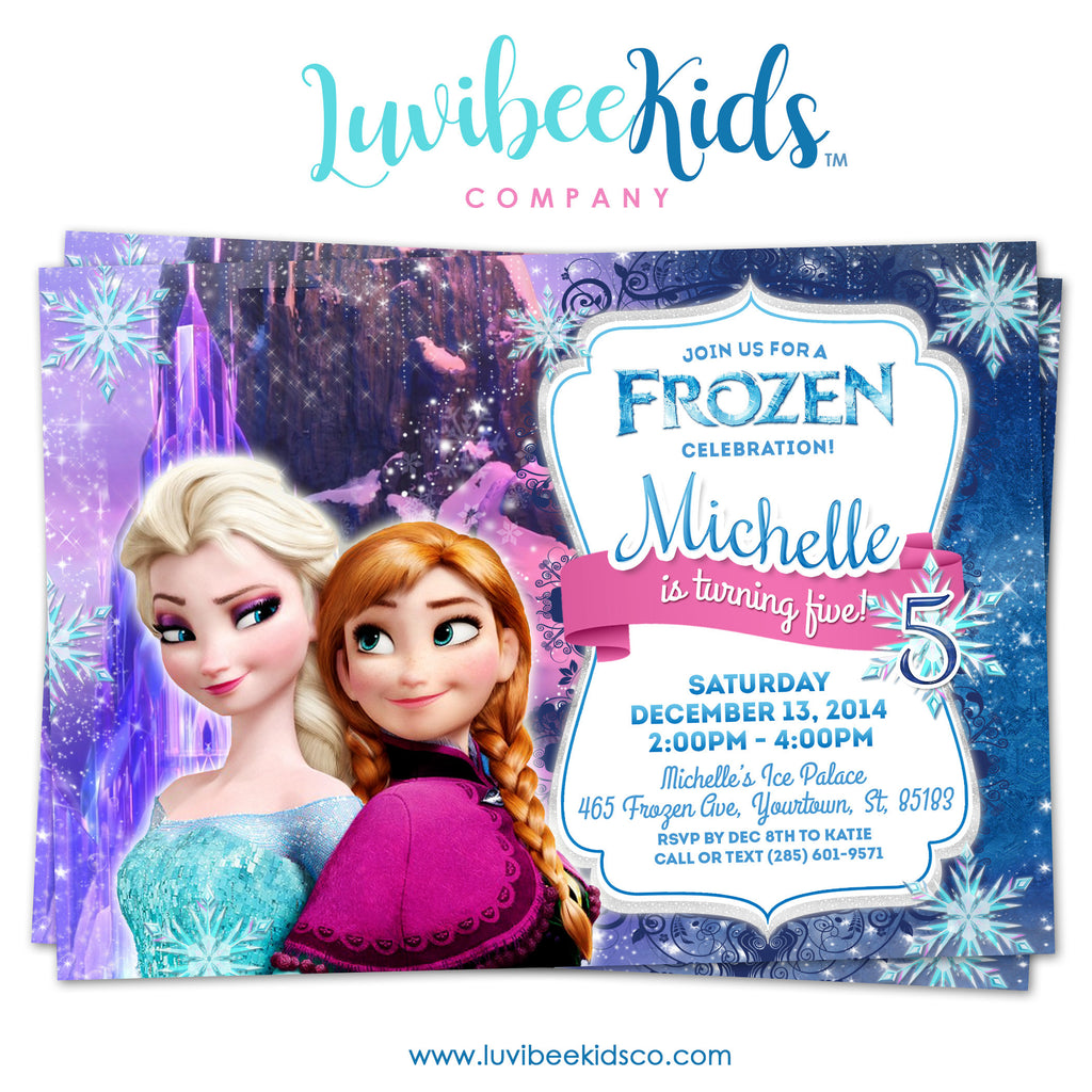 Frozen Birthday Invitation | Frozen Elsa, Anna, and Olaf Birthday Party Printables