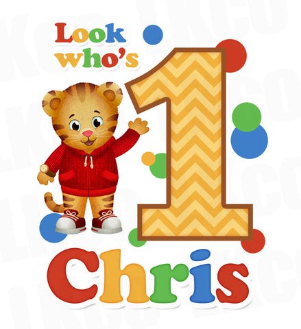 Daniel Tiger Iron On Transfer | Primary Colors | Look Who's